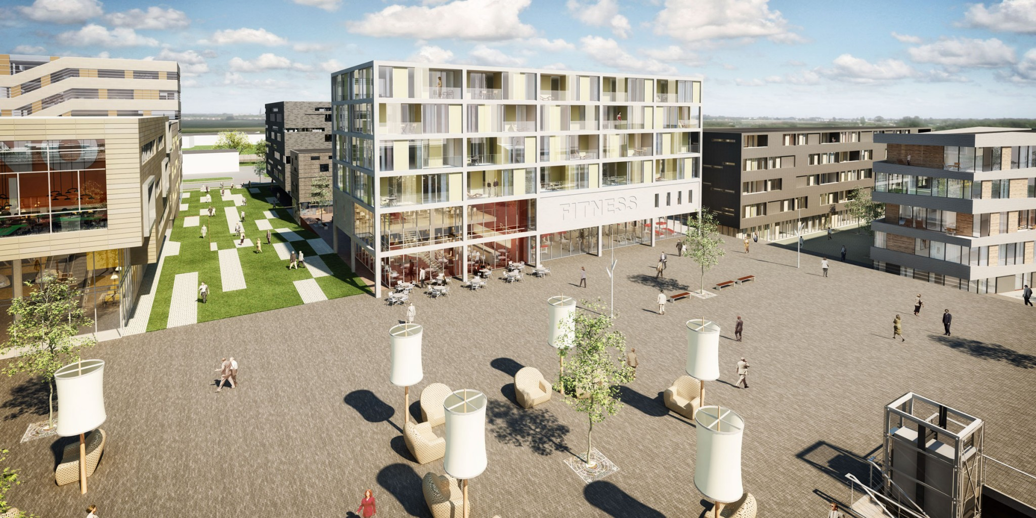 Ontwikkeling Lloyd`s terras Veendam - BINT architecten