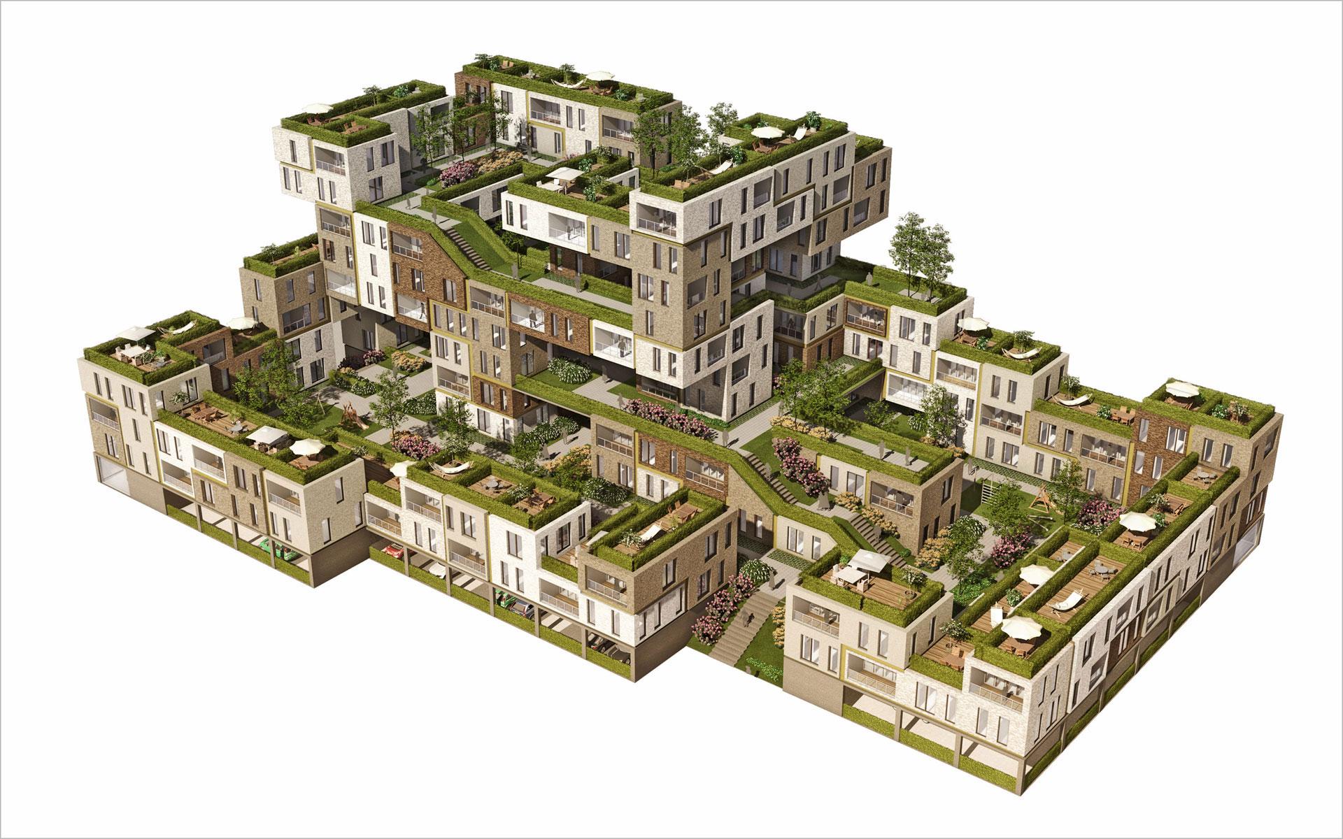 Binnenstedelijk woonconcept gezinswoningen - BINT architecten