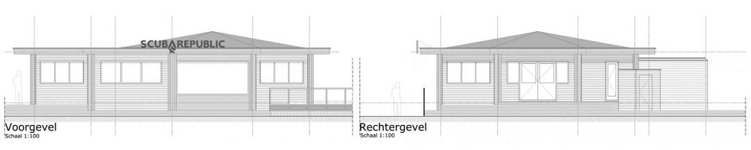 Duikcentrum-Zandvoort-tekening-gevels-voor-rechts