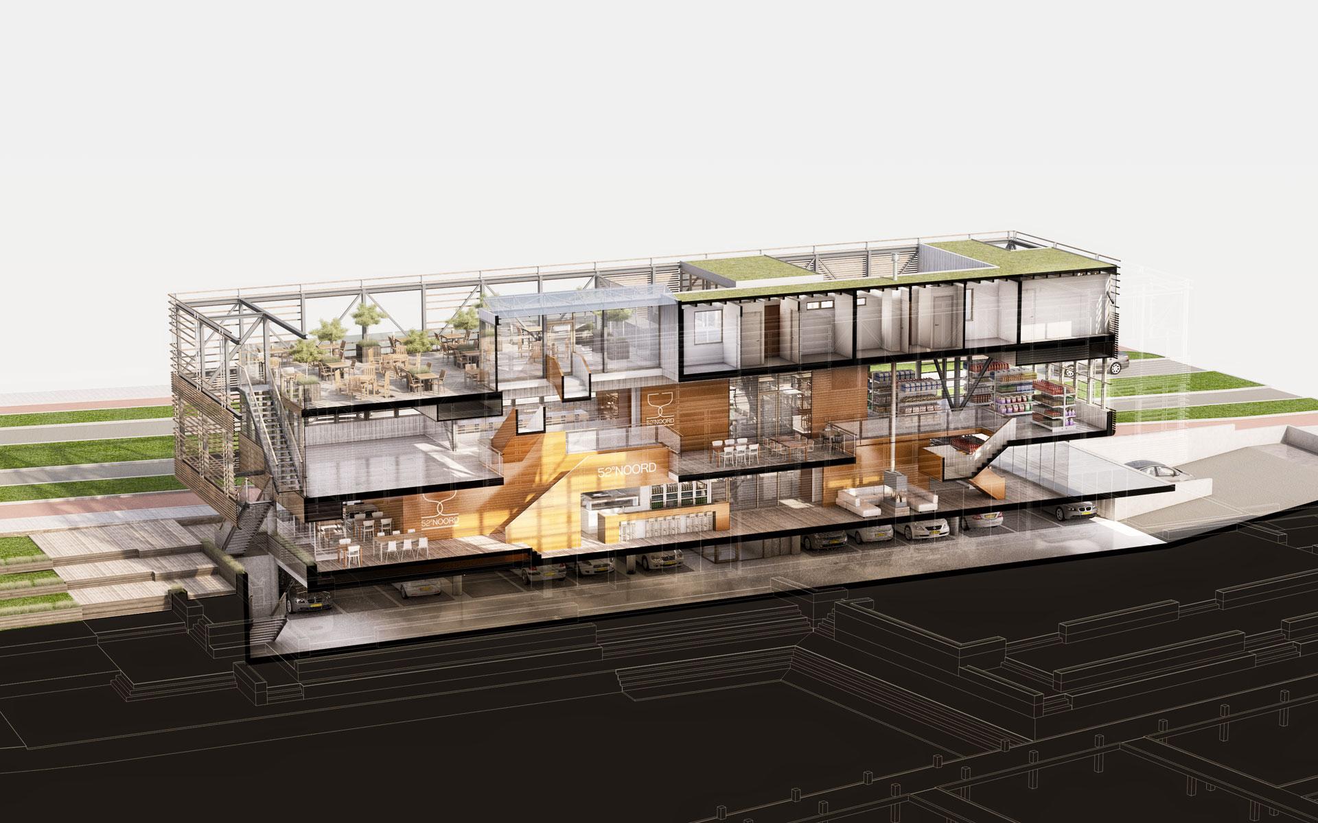Havengebouw Amstelkwartier, Adam | BINT architecten George Marina Amsterdam