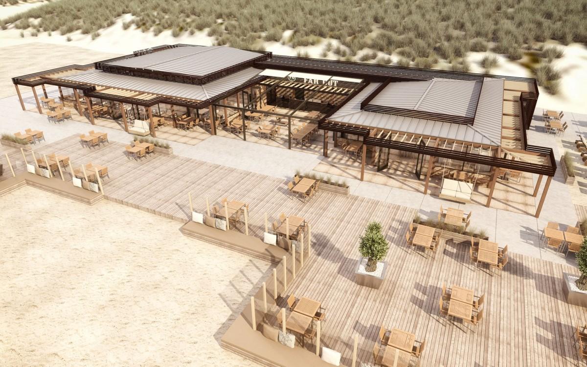 Start bouw Beachclub Far Out Zandvoort