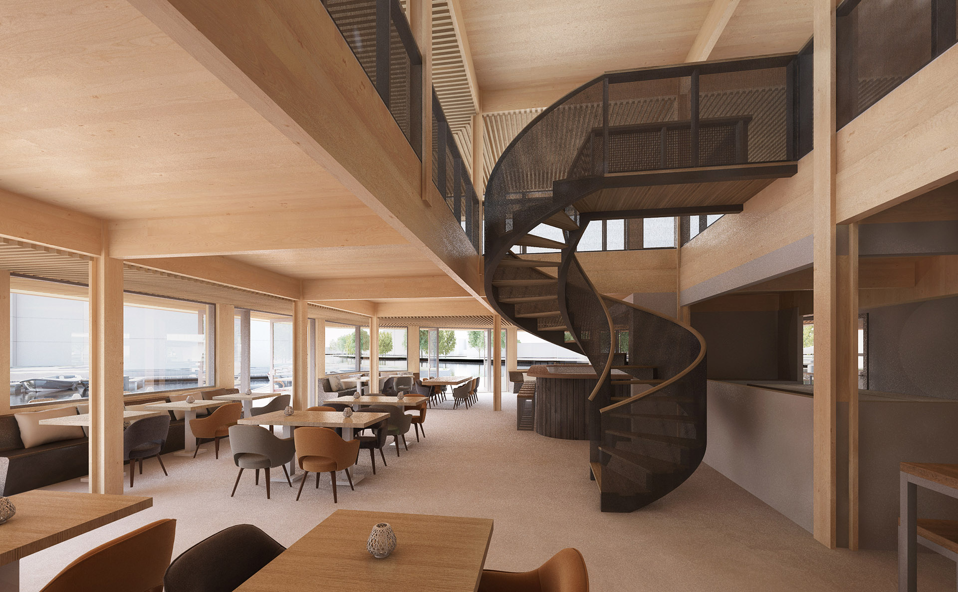 Jachthavengebouw Oegstgeest-ad-Rijn - BINT architecten