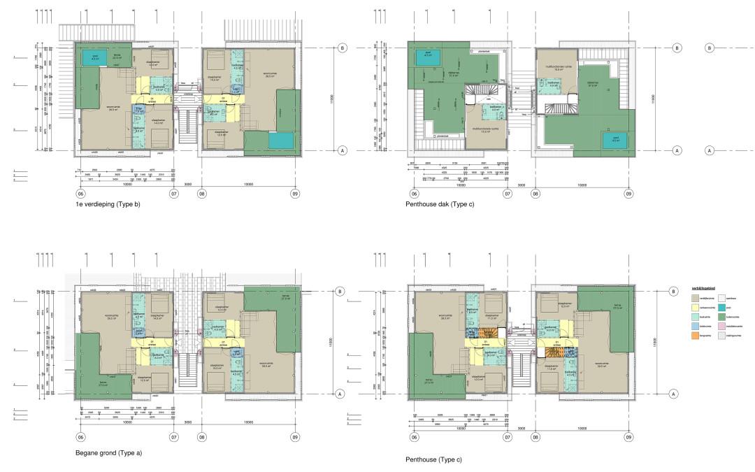 Bonaire_plattegrond appartementen